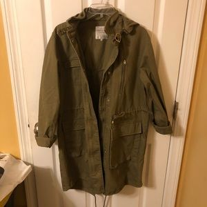 Zara Green Trench coat